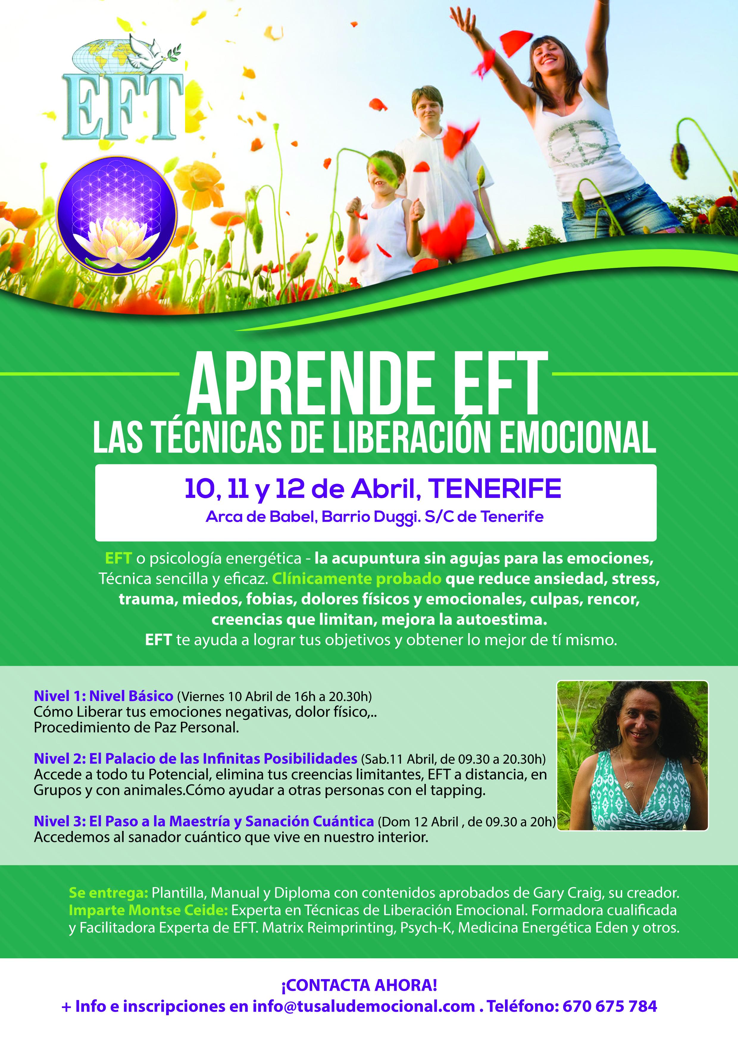 Formación EFT en Tenerife 10, 11 y 12 de Abril